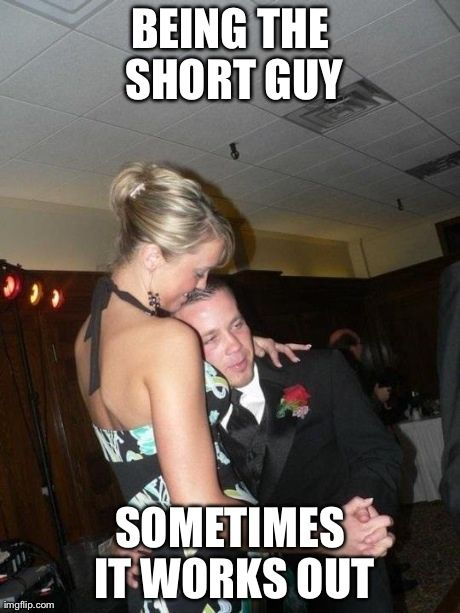 Sometimes It Works Out For The Little Guy Short People Problems Funny Pictures Tall Girl Short Guy