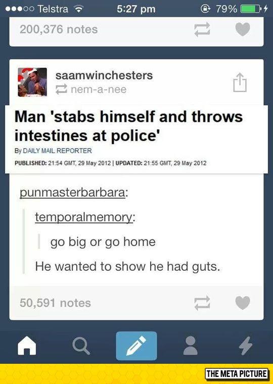 He Really Had Guts