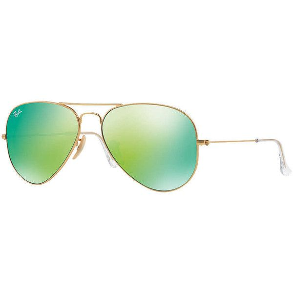 91ce3a8a0a Ray-Ban Rb3025 62 Original Aviator Gold Matte Sunglasses ( 175) ❤ liked on Polyvore  featuring accessories