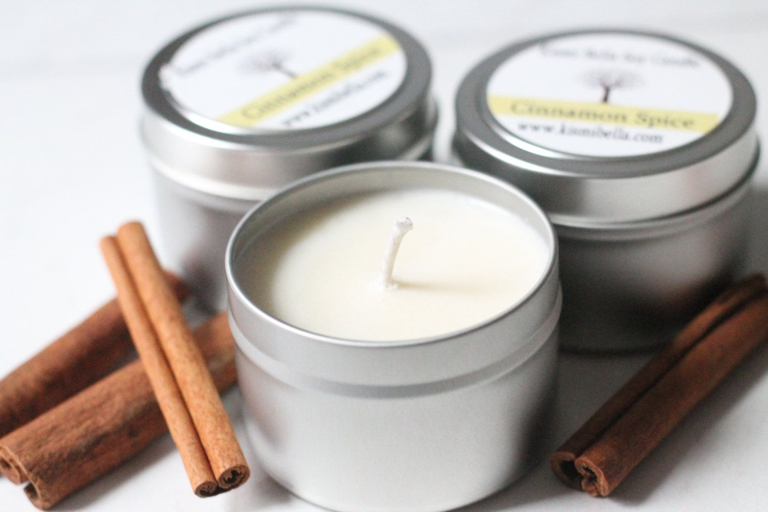 Soy Candle, Travel Candle, Candles Gift , Cinnamon Spice Soy Wax ...