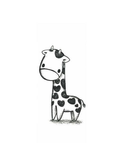 A Cute Giraffe Drawing That I Could Totally Make For My Next