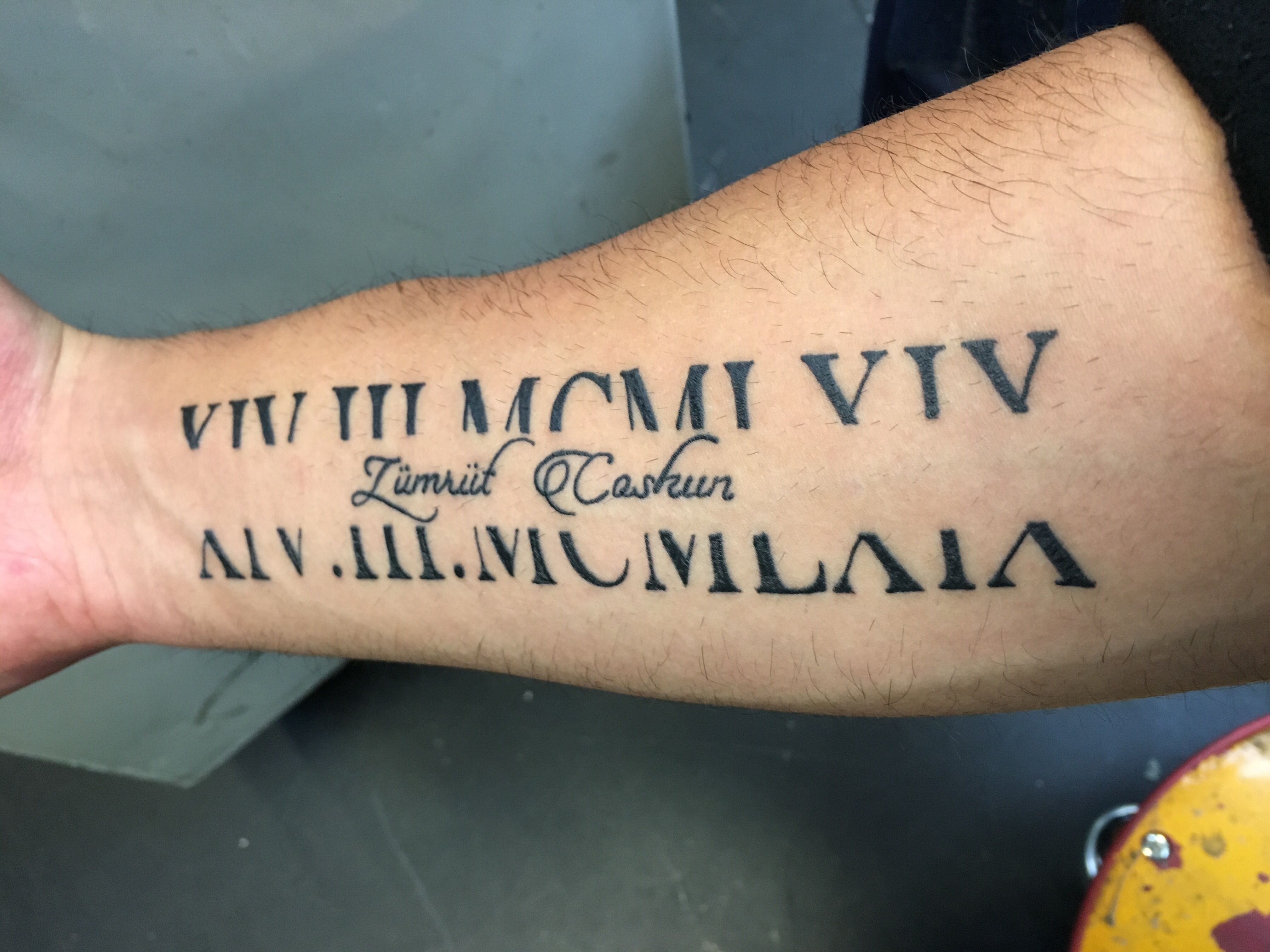 Geburtsdatum Tattoo