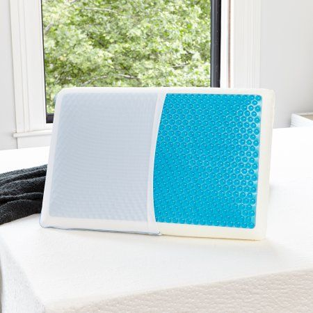 Modern Sleep Reversible Cool Gel And Memory Foam Pillow Standard