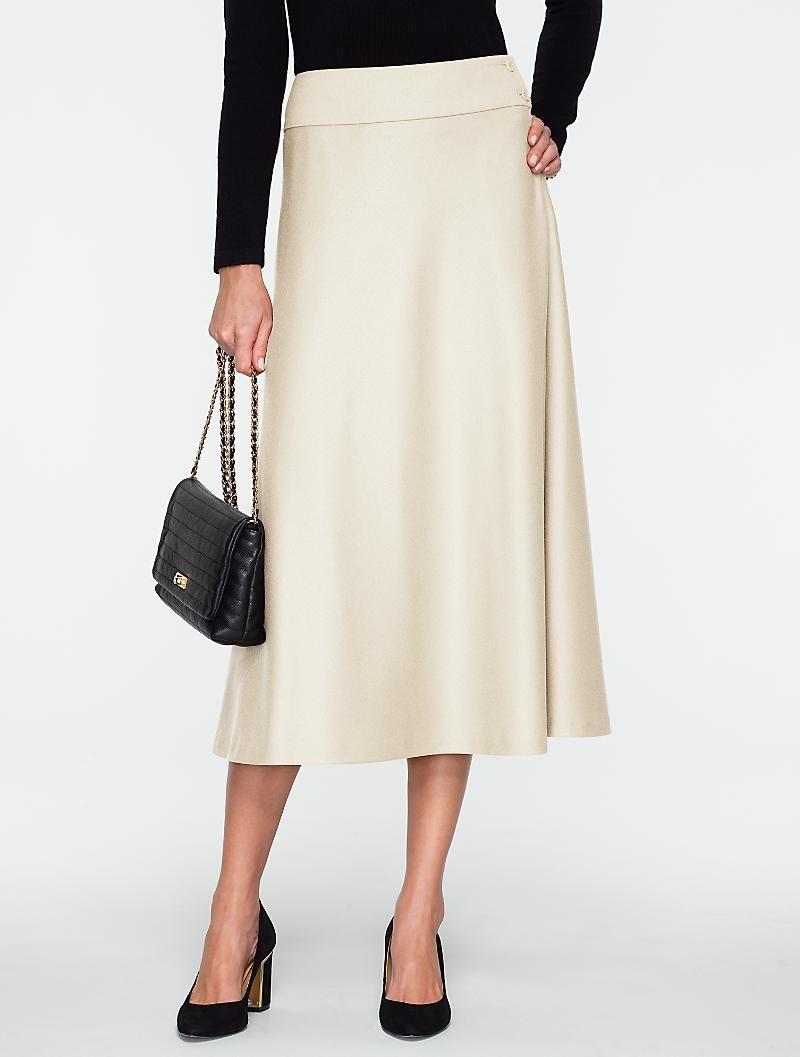 ad86b52fd58 Talbots - Italian Flannel Riding Skirt