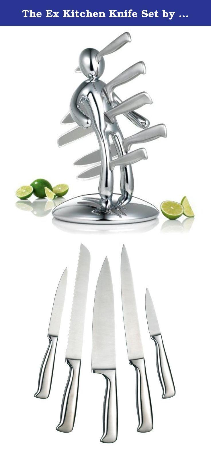 The Ex Kitchen Knife Set By Raffaele Iannello Chrome The Ex A Radical Alternative To The Typical Block O Wood Artistic Kitchen Knife Set Kitchen Knife Sets