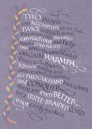 Ecclesiastes Threefold Cord Calligraphy By My Friend At Tyndale House Publishers Tim Botts