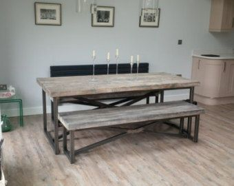 Reclaimed Wood Kitchen Tables 56 The Art Gallery Industrial Mill Style