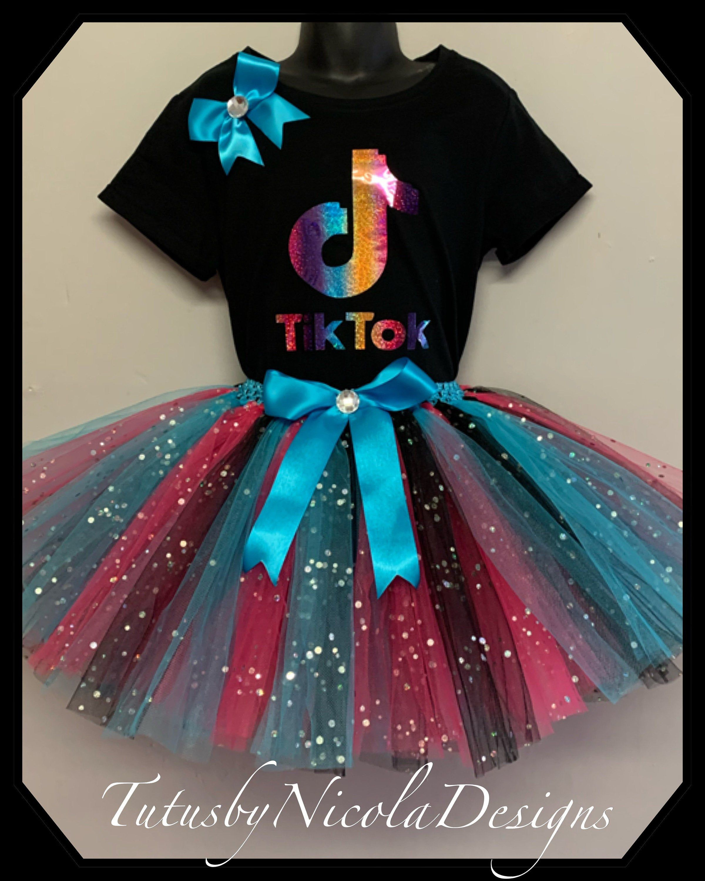 Excited To Share This Item From My Etsy Shop Tiktok Inspired Tutu Birthday Party Dress Outfit W In 2021 Tutu Birthday Party Birthday Party Dress Kid Birthday Outfits