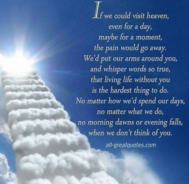 If We Could Visit Heaven Love Quotes And Thoughts About My