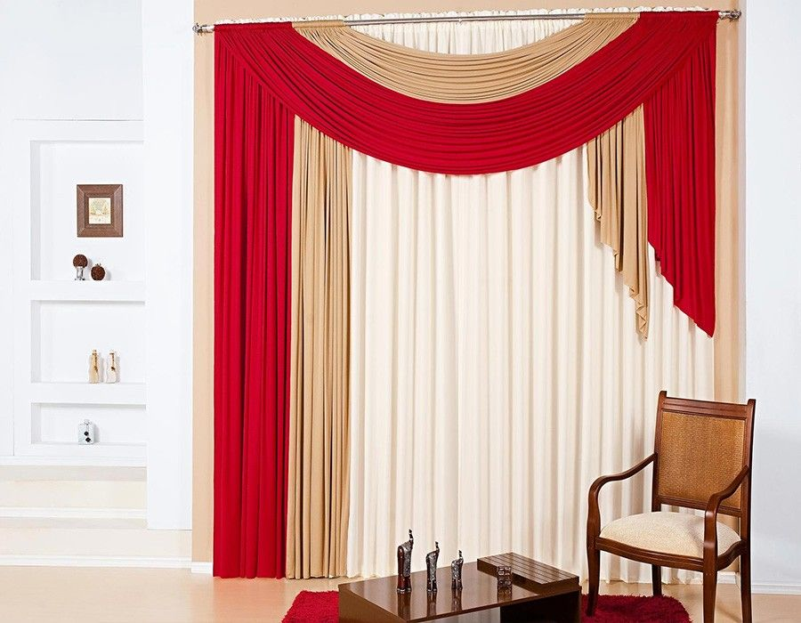 Pin de Gambagamer 333 en cortinas | Cortinas rojas ...
