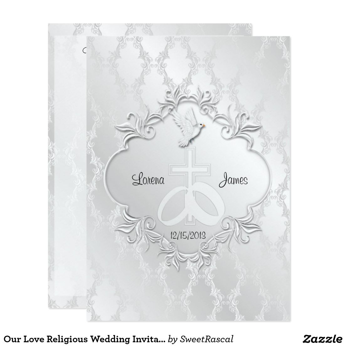 Our Love Religious Wedding Invitation | Religious wedding and Weddings