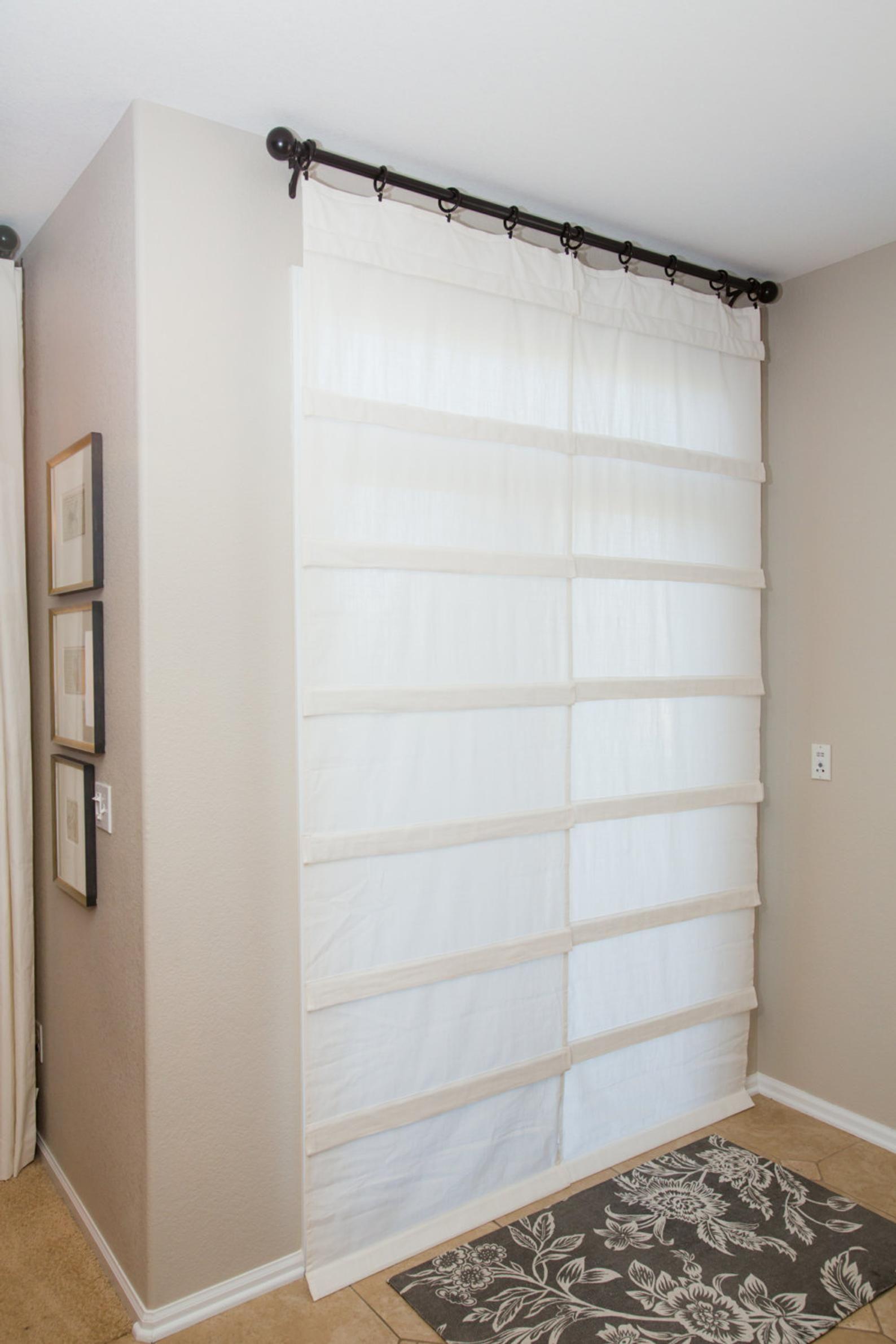 Off White Sliding Glass Door Curtain Shade Pricing Is For 1 Etsy In 2020 Sliding Glass Door Curtains Glass Door Curtains Sliding Glass Door