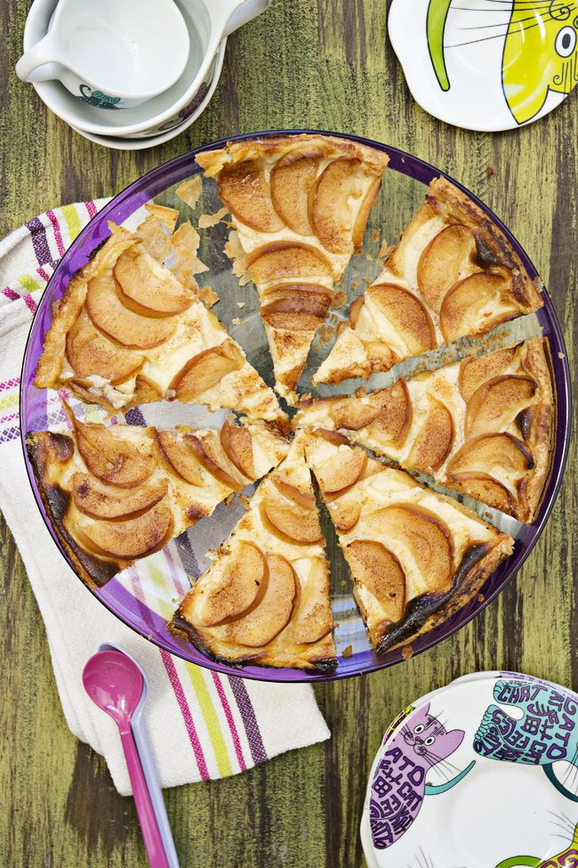 Tarta De Manzana Con Crema Pastelera Receta Tarta De Manzana Pastelera Crema Pastelera