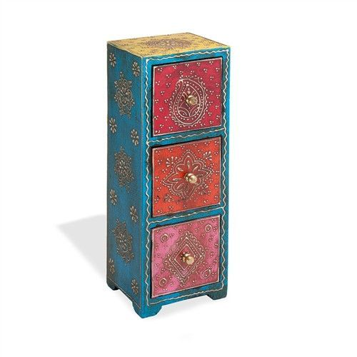 3 Drawer Almirah Mango Wood Jewelry Armoire Products Pinterest