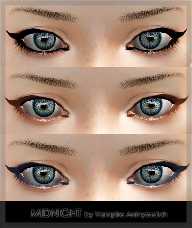 MIDNIGHT Eyeliner by Vampire_aninyosaloh - Sims 3 Downloads
