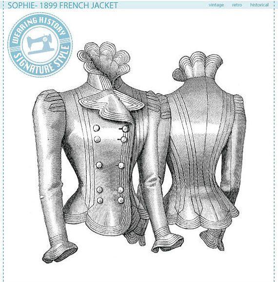 E-Pattern- Sophie- 1899 French Jacket Pattern- Wearing History ...