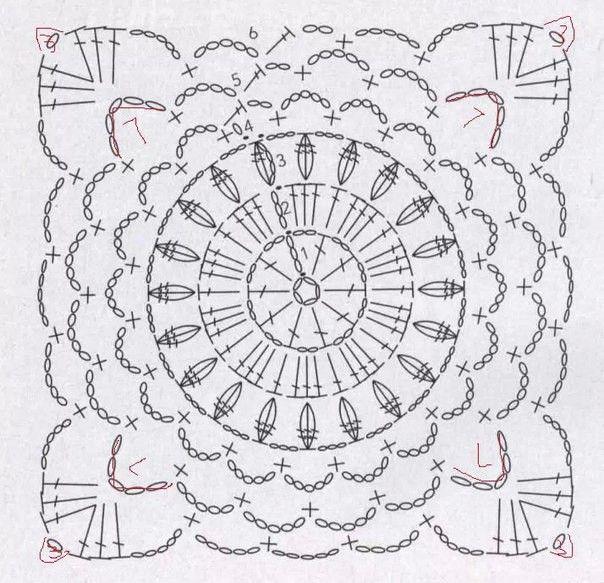 Pin de cristina castro en crochet | Pinterest | Cuadrados, Chaleco ...