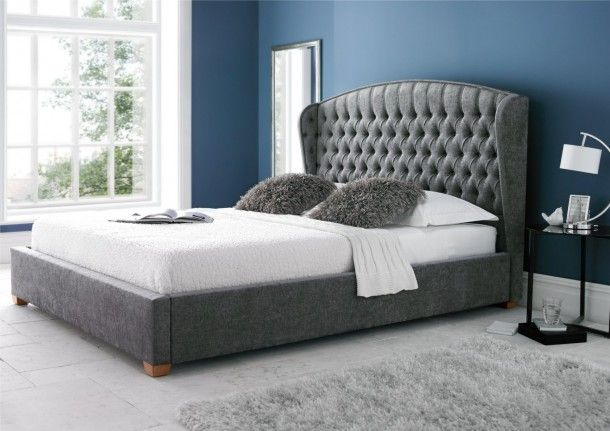 big sale 212e1 e9031 Mia Winged Upholstered Bed Frame | Home | Bed frame with ...