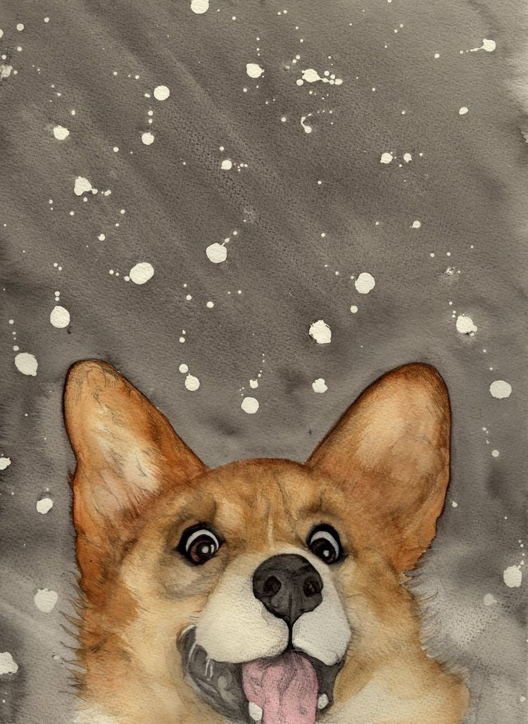Boo B Tch Corgiappreciation Corgi Art Dog Paintings Corgi