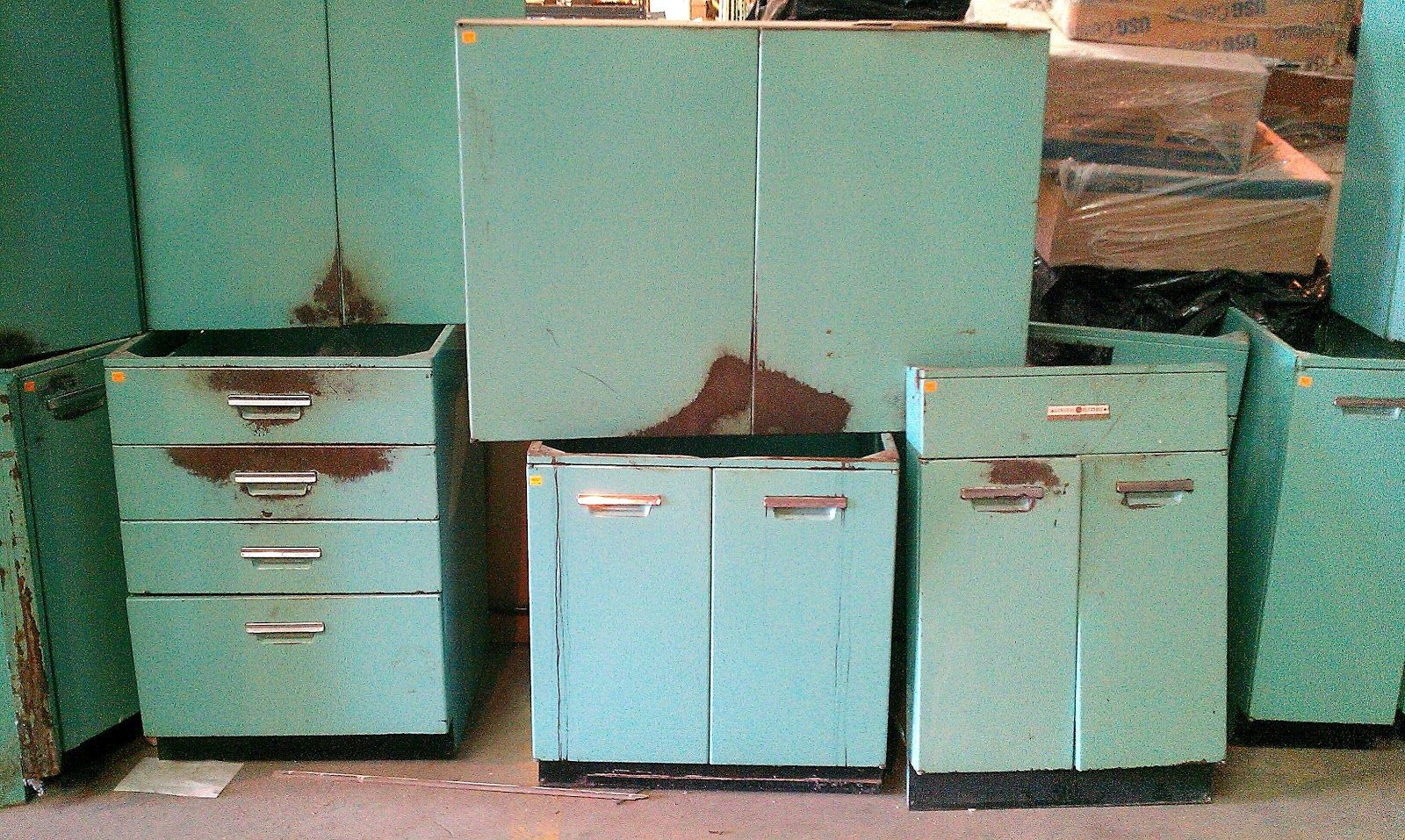 Kitchen Cool Vintage General Electric Metal Kitchen Cabinets Metal