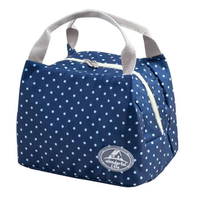 0fa8aca73 7 Type Dot Lunch Bag Reusable Picnic Food Bags for Women Girl Lady Thicken  Cold Insulation