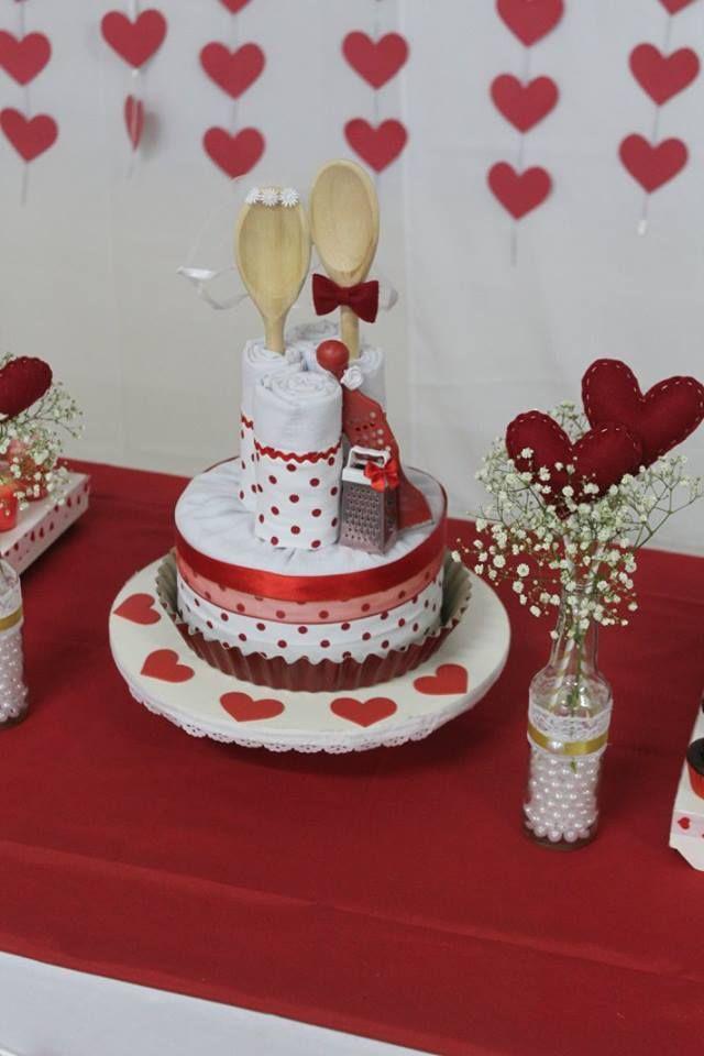 Cha De Panela Love Com Imagens Chas De Panela Vermelha