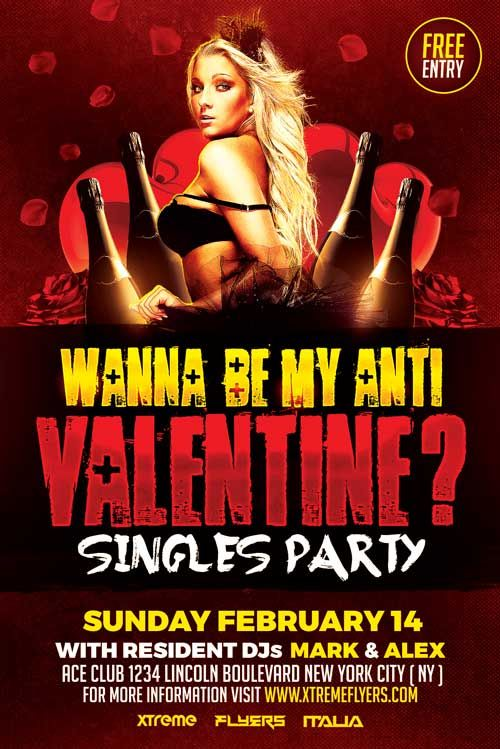valentines day party flyers
