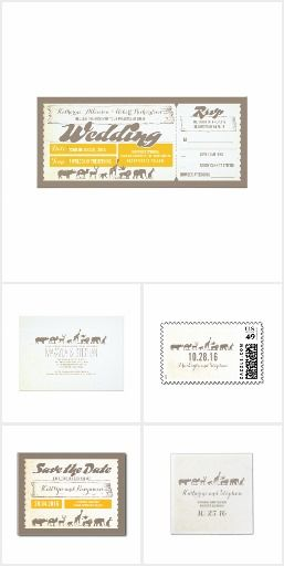 Zoo Wedding Tickets Collection