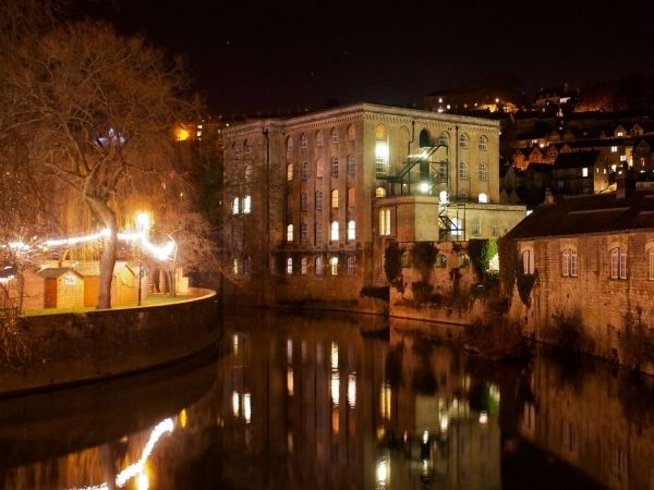 Night time view across the River Avon Image courtesy of Andrew Eberlin