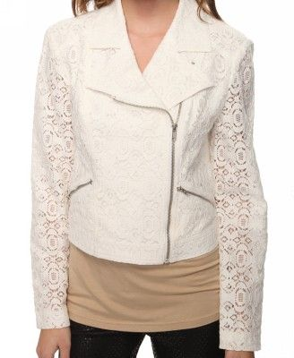 Love this lace motorcycle jacket. (: