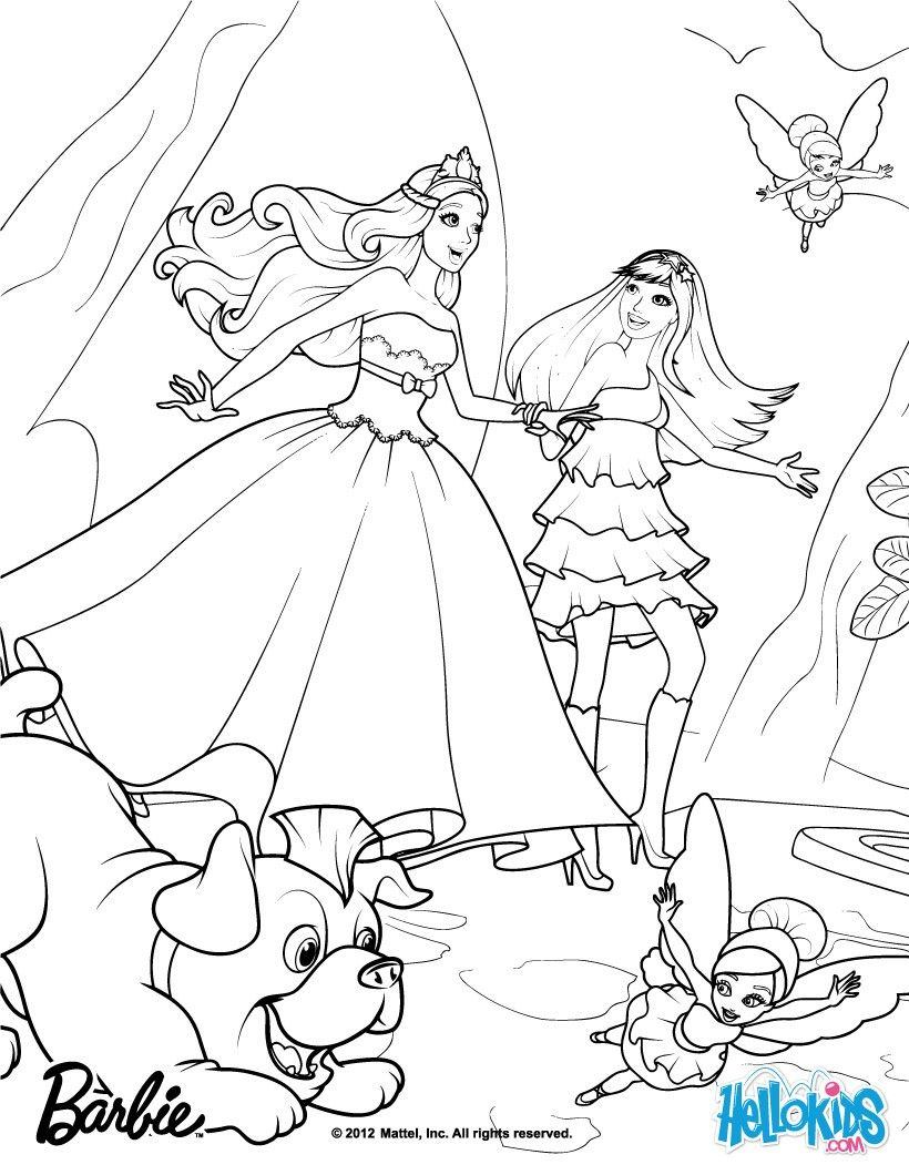 Tori Keira Riff And The Fairies Barbie Coloring Pages More Princess