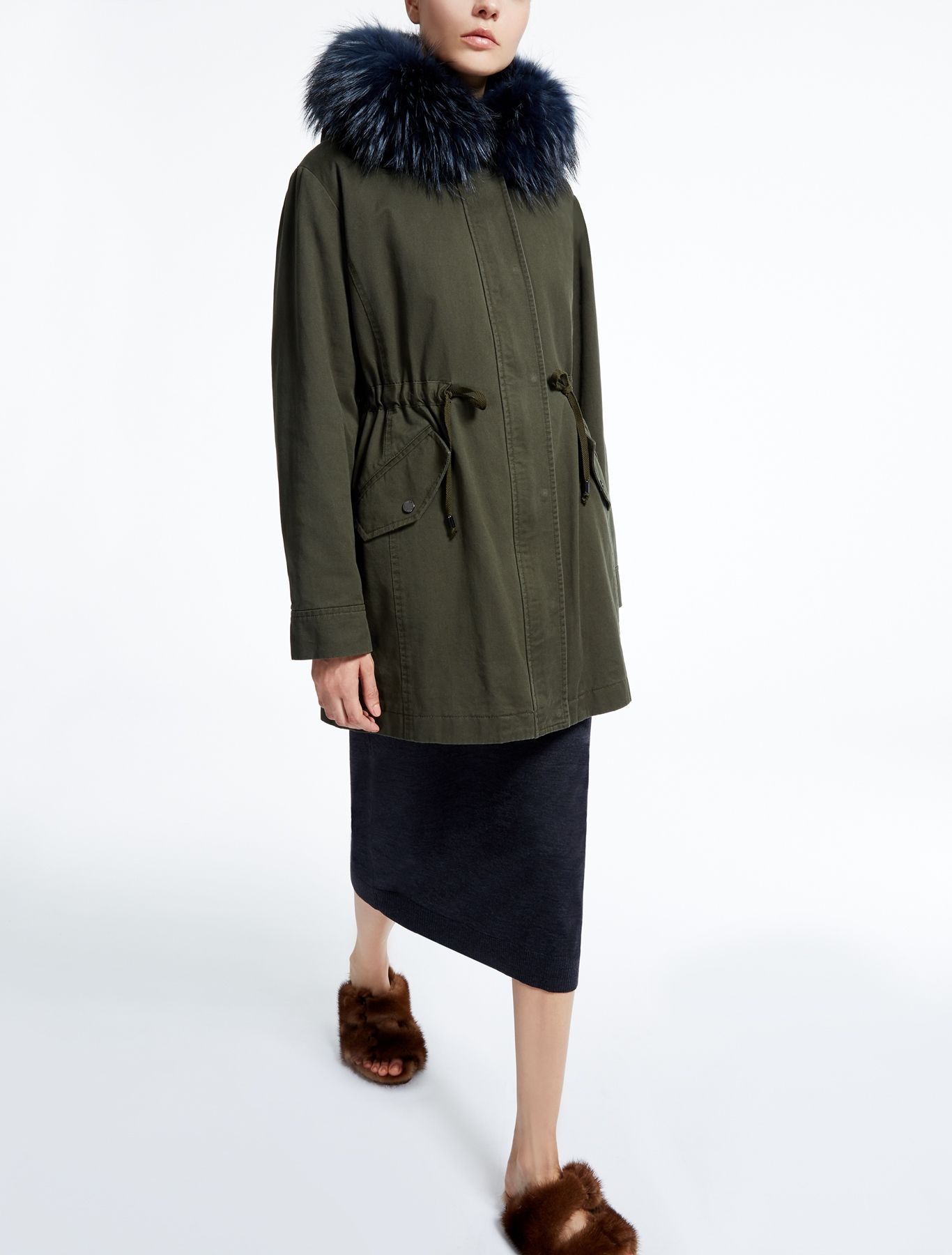 335242341ed Cotton gabardine parka