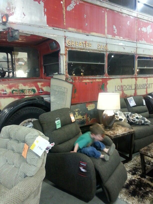 Double Decker London Bus On Display At Hometown Furniture Store In Lebanon  Oregon