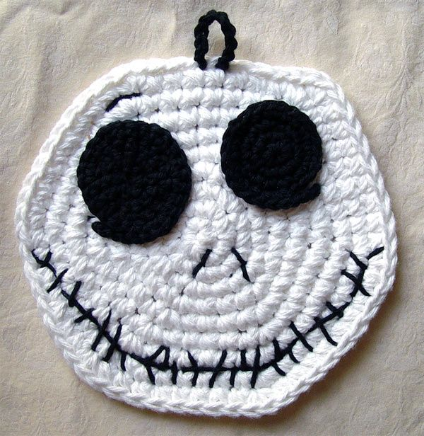 Crochet Jack Skellington | Crochet-Appliques,flowers,jewelry ...