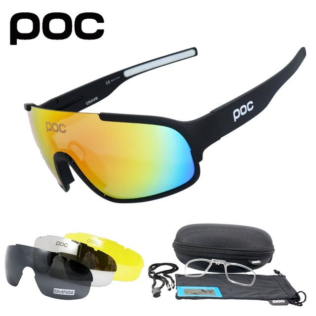 c668da70bc3 POC Crave 4 Lens UV400 Polarized Cycling SunGlasses Mountain Bike Goggles Cycling  Eyewear Bicycle Cycling Glasses