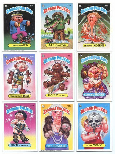 1985 Garbage Pail Kids Collector S Cards Garbage Pail Kids Kids Playing Childhood Memories