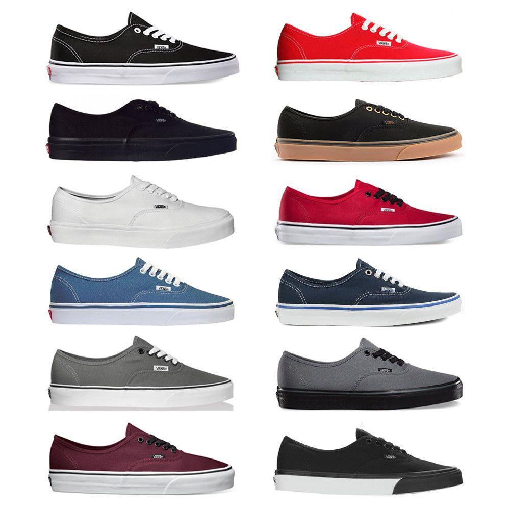 Vans New Authentic Era Classic Sneakers Unisex Canvas Shoes ...