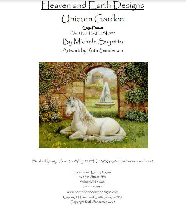 Heaven And Earth Designs Unicorn Garden Artwork By Ruth Sanderson Earth Design Heaven On Earth Stitch Shop