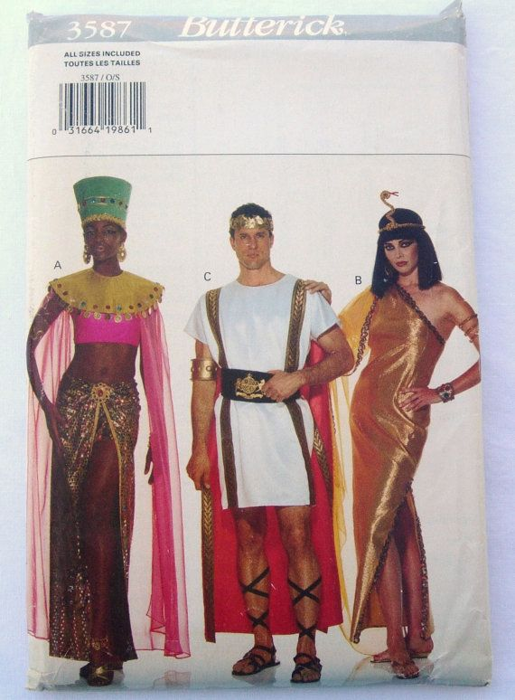 Butterick 3587 Cleopatra Mark Anthony Egyptian costume  sc 1 st  Pinterest & Cleopatra Mark Antony Nefertiti Egyptian Costumes - Butterick 3587 ...