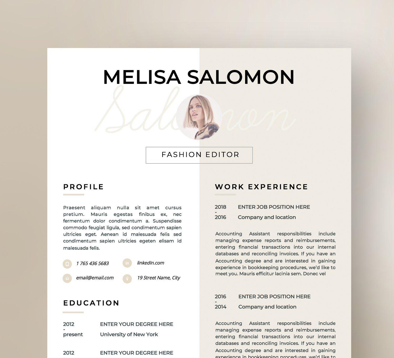 Resume Template 1 2 Page Florence Cv Resume Template Cv Design Resume Cv