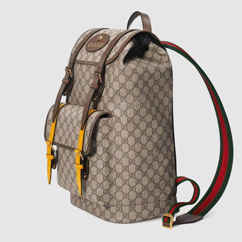 9760ce4b5e5 Gucci Soft GG Supreme backpack Detail 2