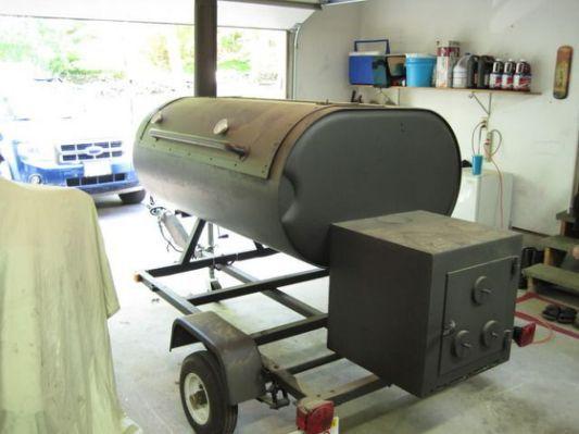 fuel oil tank smoker | triple barrel