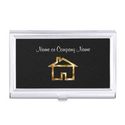 Classy house symbol business card holder real estate gifts classy house symbol business card holder real estate gifts business cyo diy customize colourmoves