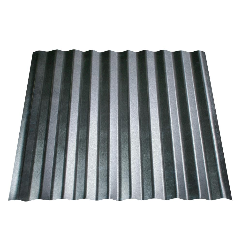 Metal Sales 12 Ft X 2 5 In Corrugated Utility Steel Roof Panel Hd2090112 The Home Depo In 2020 Metal Roof Panels Corrugated Metal Roof Panels Corrugated Metal Roof