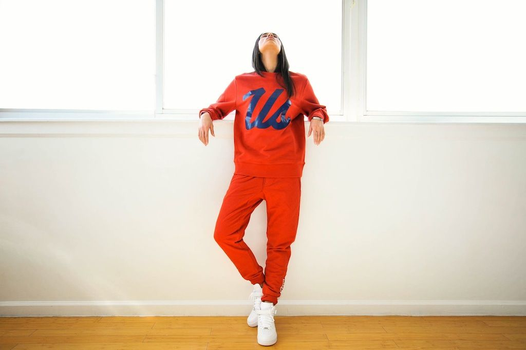 """Kith """"Us"""" Crewneck & Quilted Bleecker Sweatpant. Released March 1st at 11am EST via www.KithNYC.com/. (Photographer: Snapps NY 