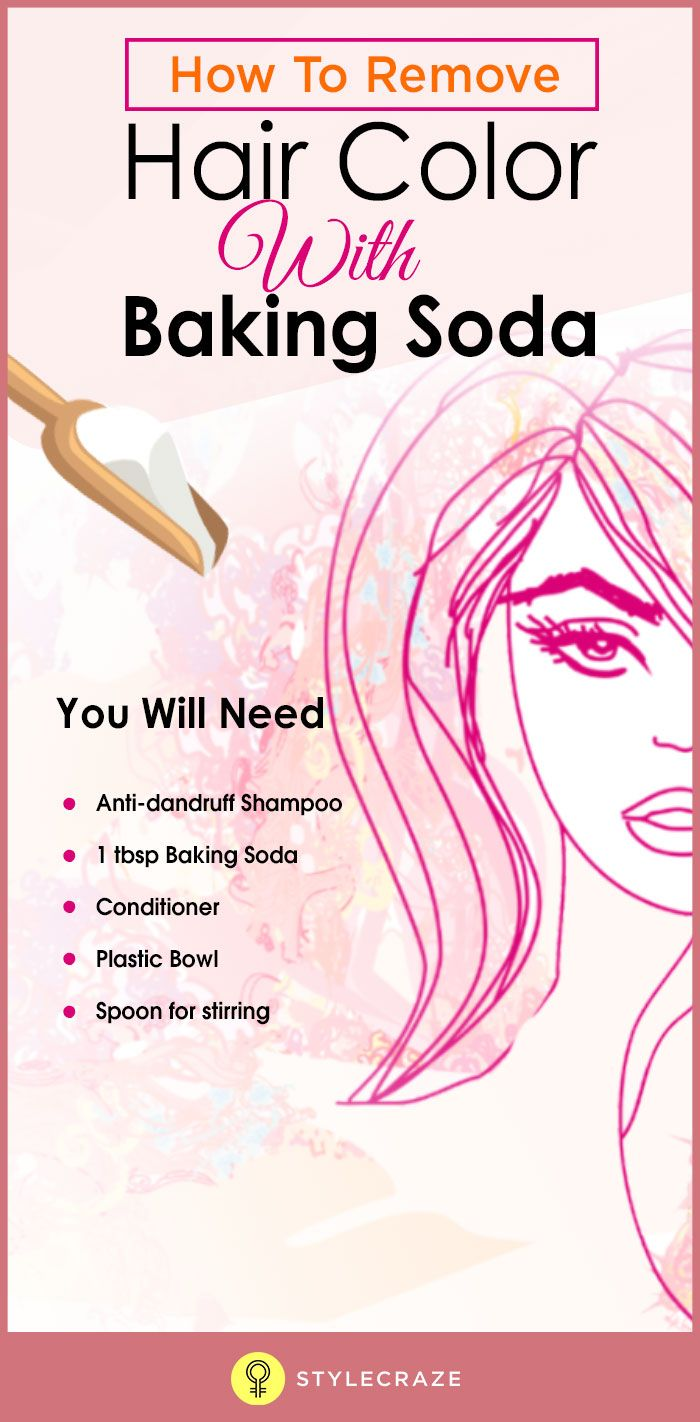 How To Remove Hair Color With Baking Soda Hair Care Pinterest