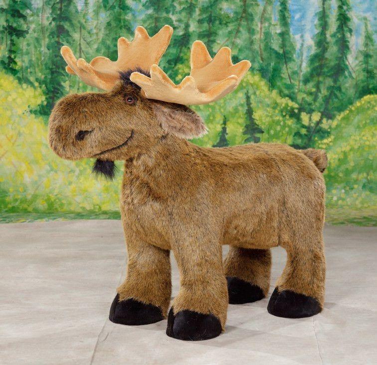 """Abercrombie"" Baby Moose Monkey stuffed animal, Small"