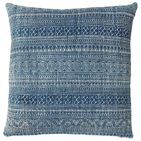 Palayam Cushion Cover Extra Large Indigo Blue and and Cushion