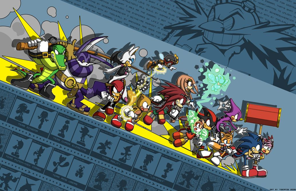 Sonic - Teams against Eggman by Tigerfog.deviantart.com on @deviantART