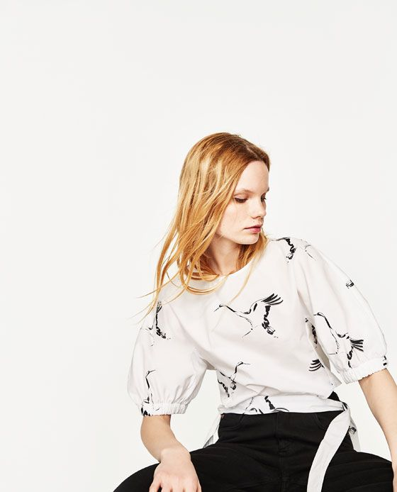 Image 7 of PRINTED FULL SLEEVE TOP from Zara